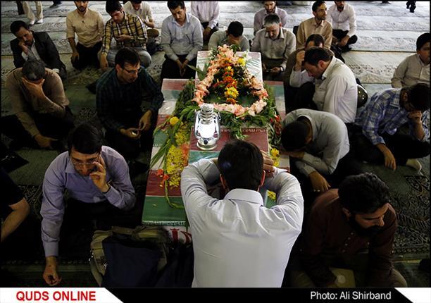 مراسم وداع با شهدای غواص در دانشگاه تهران