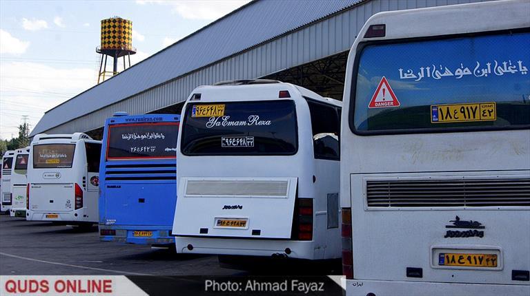 گزارش تصویری: حال وهوای نوروزی پایانه مسافربری مشهد مقدس