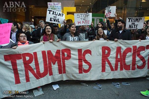 Image result for ترامپ و تظاهرات
