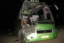 سقوط اتوبوس مسافربری در محور یاسوج- اصفهان دو کشته بر جای گذاشت
