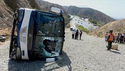 واژگونی اتوبوس در محور زاهدان- زابل یک مجروح بر جای گذاشت
