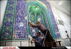 غبار روبی مساجد در آستانه ماه مبارک رمضان