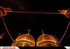 حرم مطهر امامین کاظمین در شب شهادت امام جواد الائمه (ع) / گزارش تصویری