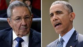 اوباما و رائول کاسترو