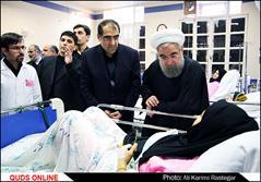 ملاقات رئیس جمهور از بیماران بیمارستان امام رضا (ع)