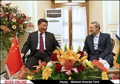 دیدار رئیس جمهور چین با رئیس مجلس شورای اسلامی