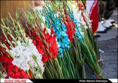 غبار روبی وگلباران گلستان شهداء شهرکرد