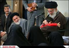 دیدار خانواده شهدای مدافعان حرم اهل بیت(ع) با رهبرانقلاب