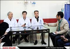 تصاویر آیت الله واعظ طبسی در بیمارستان