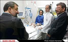 عیادت محسن رضایی دبیر مجمع تشخیص مصلحت نظام از آیت الله واعظ طبسی