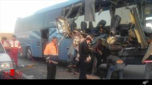 تصادف اتوبوس و تریلر هوو