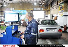 انبوه خودروهای متقاضی معاینه فنی در مرکز حافظ مشهد