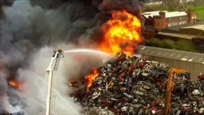 تصاویر هوایی از آتش سوزی مهیب