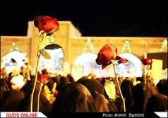 گلباران حرم مطهر رضوی در شب میلاد امام جواد الائمه