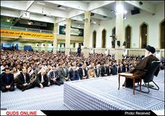 رهبر معظم انقلاب اسلامی در دیدار کارگران