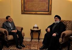 ولایتی در دیدار دبیرکل حزبالله لبنان