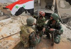 پیشروی ارتش در حومه دمشق و حمص