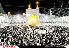 مراسم احیای شب بیست ویکم ماه رمضان در حرم رضوی برگزار شد