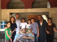 بازدید بشار اسد و همسرش از روستاهای حمص