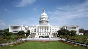 ساختمان کنگره آمریکا در وضعیت امنیتی