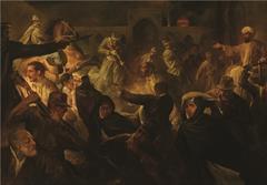 نقش قیام گوهرشاد توسط ۱۵ نقاش