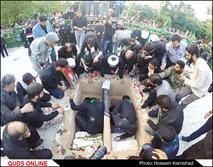 تدفین پیکر دو شهید گمنام در مشهد