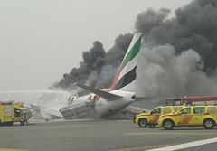 سانحه هواپیمای اماراتی هنگام فرود