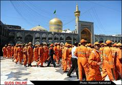 پاکبانان شهر مقدس مشهد مهمان امام مهربانی