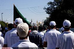 ورود کاروان دو امدادی جاده ولایت به مشهدالرضا(ع)- گزارش تصویری