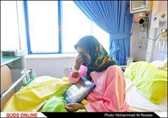 عیادت خادمان از بیماران بستری در بیمارستان ها در روز میلاد امام رضا(ع)