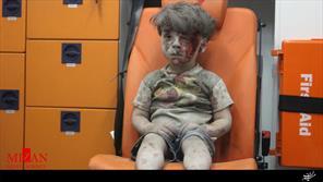 تصویر کودک ۵ ساله سوری