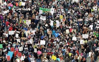 تظاهرات هزاران آمریکایی ضد ترامپ