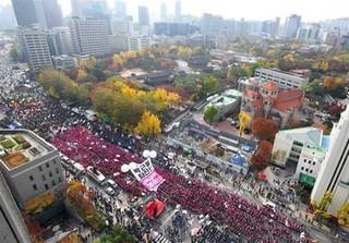 تظاهرات کره جنوبی
