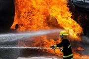 کارخانه سیمان شاهرود آتش گرفت