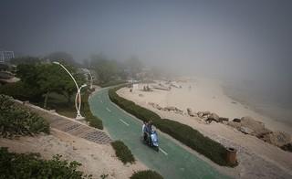 گزارش تصویری از مه گرفتگی در جزیره کیش
