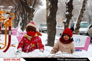 برف شادی بر چهره مشهد نشست