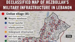 نقشه رژیم صهیونیست - حزب الله لبنان