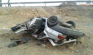 واژگونی خودرو پراید