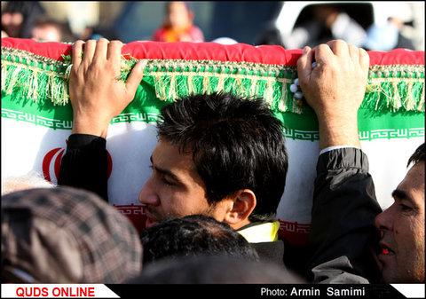 تشییع پیکر شهید مدافع حرم یاسین رحیمی