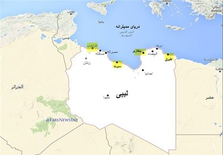 نقشه لیبی - شهر سرت