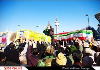 تشییع دو شهید مدافع حرم در مشهد مقدس