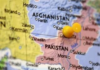 نقشه افغانستان تا پاکستان