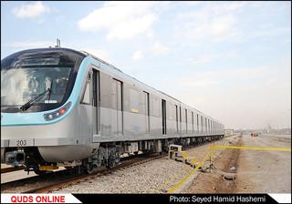 عملیات تست گرم خط دو قطارشهری مشهد