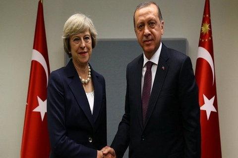 اردوغان و ترزا می