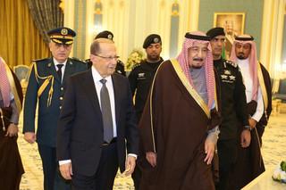 رئیس جمهور لبنان با پادشاه عربستان