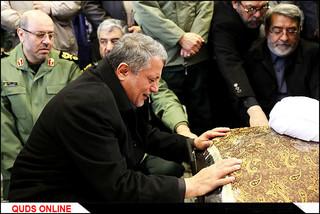با حضور در مراسم تشییع در دانشگاه تهران