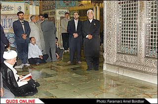 باز نشر غبار روبی ضریح مطهر حضرت رضا با حضور مرحوم آیت الله هاشمی رفسنجانی