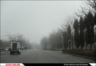مه گرفتگی در مشهد/عکس خبری
