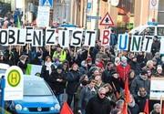 برگزاری اعتراضات گسترده ضد افراطگرایی در شهر کوبلنتس آلمان