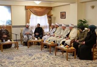 آیت الله محمدی ریشهری در دیدار مفتی اعظم و جمعی از مفتیان کشور گرجستان